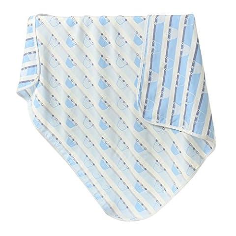 Sweetds hohe Qualität Babydecke Zwei Schichten Baumwolle Badetuch, Musselin Decke für Unisex (Jahreszeit Stroller Abdeckung)