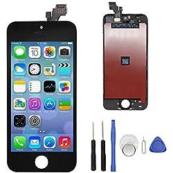 Ecran Tactile Ecran De Remplacement LCD Ecran De Rechange Rétine Avec Kit D'outils Pour iPhone 5 Noir