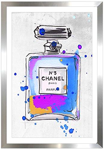 Picture Perfect International by Chanel Parfum 5 cm von Jodi gerahmtes Plexiglas Wall Art (Chanel Leinwand Bild)