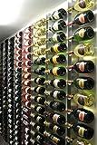 Vin'store Design - RCD18 - Porte Bouteille de Champagne Design Mural en INOX, Made in France, Support pour la Maison, Cave, Restaurant, Bar