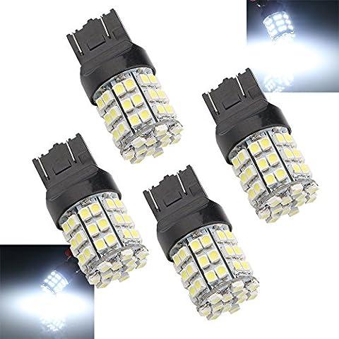 Grandview 4pcs Bianco 74437444na 121054-smd LED Turn Signal Light Bulb 12V lampadina di ricambio T20W21–5W 21W W3x 16q ECE per coda freno Girare Backup Luci di parcheggio - Bmw Coda Lampadina