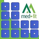 MED-FIT 5x5cm Flexi STIM 12 x 3.5mm Stud (tipo snap/boton) TENS Almohadillas autoadhesivas encajan con BEURER, SANITAS y VIRTUALMENTE todas las Maquinas de masaje TENS en Amazon.