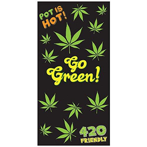 Rockin Gear Handtuch Marijuana Leaf Weed Pot Cannibis Bedruckt Strandtuch 76,2x 152,4cm Weiche Baumwolle Velours Handtuch -