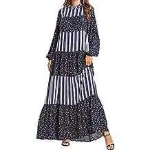 Ropa Mujer Musulmana Vestidos Largos-Manga Larga Elegante Maxi Tunicas Abaya Islamica Caftan Arabe