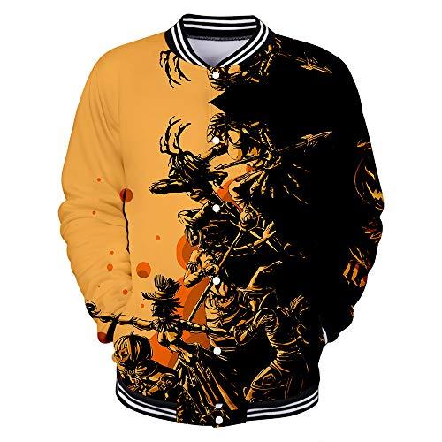 LILIGOD Casual Pullover Herren Damen Langarmshirts 3D Print Langarm T-Shirt O-Ausschnitt Sweatshirts Männer Scary Halloween Liebhaber Pullover Party Langarm Pullover Bequem Bluse -