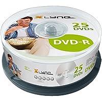 Xlyne - Torre DVD-R (4,7 GB, 16x, 25 unidades), color plateado [Alemania]