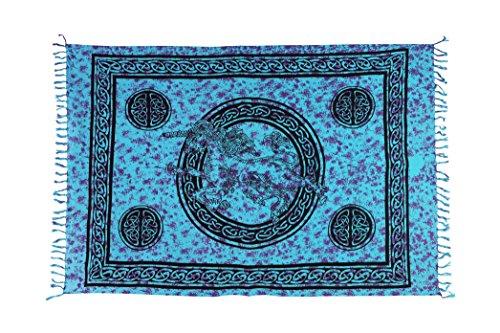 Ca 48 Modelle Sarong Pareo Wickelrock Strandtuch Handtuch Lunghi Dhoti ca. 170cm x 110cm mit Toller Stickerei Handarbeit viele Modelle Einhorn Türkis Lila