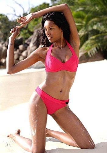 Kangaroos Bügelbikini Lobster Neckholder Bikini Cup B Damen pink Gr. 36