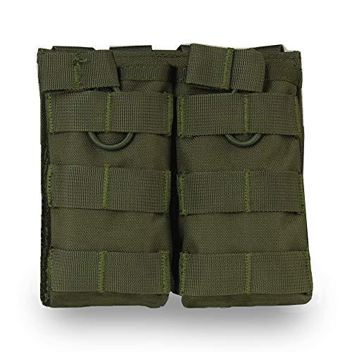 Lejie M4 M16 AP15 Taktische Magazintasche, Open-Top-Mag-Halterung, Doppel-Luftgewehr MOLLE Mag Pouch -