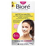 Biore Witch Hazel Ultra Deep Cleansing Pore Strips Nose Strips For Spot Prone Skin x4, 21 g