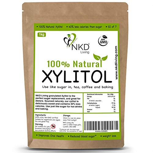 XILITOL 1 Kg, alternativa natural al azúcar | Con certificado de producto...