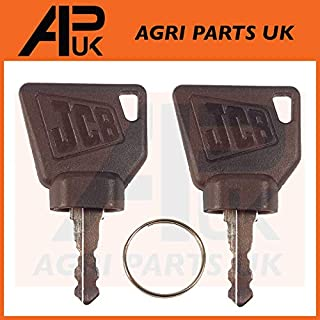 NEW 3CX Ignition Key Pair 2pc for Switch Starter JCB Parts Digger Plant Keys