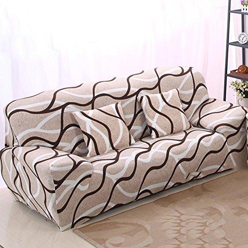 Yq whjb tessuti divano fodera elastica,pianta fiori copridivano divano letto anti-scivolo coperture mobili protector per 1 2 3 4 cuscini divano divano-r 4 monoposto