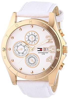 Tommy Hilfiger 1780930 - Reloj de cuarzo para mujer, con correa de cuero, color blanco