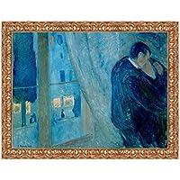 LuxHomeDecor marco impresión sobre lienzo con marco de madera Edvard Munch The Kiss