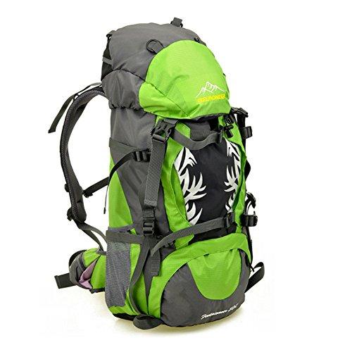 YAAGLE Neu Outdoor Sport Bersteigen Tasche Camping Rucksack professionelle wasserdichte Radfahrentasche Damen und Herren Unisex-blau grün