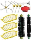 MIRTUX- Kit de Recharges pour Roomba Série 500 505 521 510 530 545 550 552 555 560 562 564 570 570 571 575 580 581 585 595. Pack de 10 pièces Compatibles avec iRobot Aspirateur- brosses et filtres.