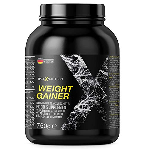 baseXnutrition, WEIGHT GAINER, die Basis für optimale Gewichtszunahme, Muskelerhalt und Muskelaufbau, 1000g Beutel