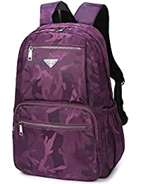 Printed Backpack Multi Pocket Bookbag Laptop Bag School Pack For Kids Boys Girls (Casual Violet) By Mifulgoo