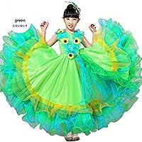 Wgwioo Niños Vestidos De Flamenco Muestran La Falda De Traje Chica De Toro  De Danza Moderna 55eda6b2b221