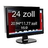 Xianan 24 Zoll Widescreen 16:9 Displayfilter Blickschutzfilter Blickschutzfolie Blickschutz Sichtschutz