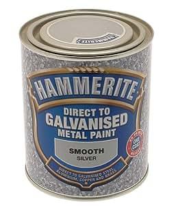 hammerite 5097051 peinture appliquer directement sur le m tal galvanis 750 ml argent. Black Bedroom Furniture Sets. Home Design Ideas