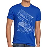 A.N.T. C64 Basic V2 T-Shirt Homme Ordinateur Personnel Classic Gamer, Taille:L
