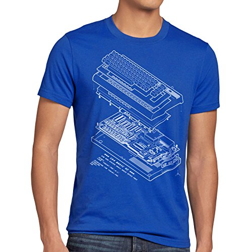 A.N.T. C64 Basic V2 Herren T-Shirt heimcomputer Classic Gamer, Größe:L