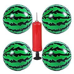 Idea Regalo - BESTZY Anguria Palla, 4 Pezzi Palla di Anguria Pallone da Spiaggia con Pompa a Palloncino per Doni da Spiaggia all'aperto