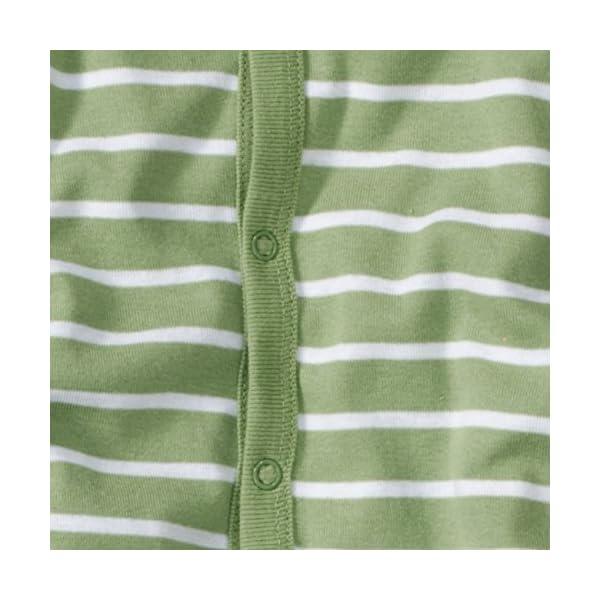 WELLYOU Pijamas para bebés y niños, Pijamas de una Pieza 100% Hecho de algodón, Color Verde con Rayas Blancas. Tallas 56-134 4