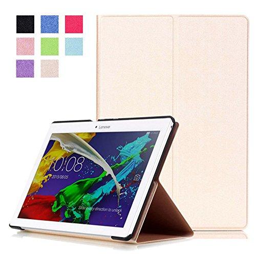 Hülle für Lenovo Tab 2 A10-30 A10-70F / Tab 10 TB-X103F 10.1 Zoll Schutzhülle Etui Tablet Tasche Smart Cover A10-70L (Farbe: Gold)