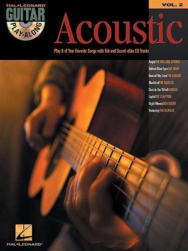 Guitar Play Along ACOUSTIC (+CD) mit Plektrum -- 8 beliebte Songs u.a. mit ANGIE (Rolling Stones) und BEHIND BLUE EYES (Limp Bizkit) als Akustikversion für Gesang und Gitarre in Standardnotation und Tabulatur (Noten/sheet music)