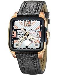 d91a60d5d561 Lotus LOTUS - Reloj cronógrafo de cuarzo para hombre con correa de piel