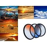 Conjunto de filtros de Graduado de HAIDA (Resina) Tamaño 82 mm - Consiste en el azul - graduaron Neutral, y Orange incluidos contenedor del filtro de metal