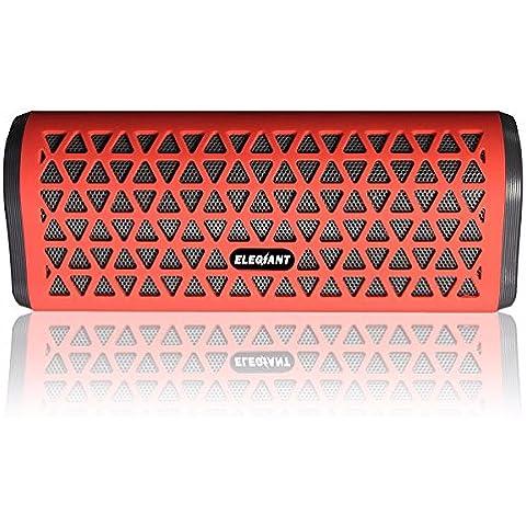 ELEGIANT Mini Bluetooth Altavoces Estéreo Con Micrófono Con Bajos Super 5 De La Tarjeta Del TF Vatios Radio FM Para Smartphone Iphone Tableta De Samsung y Otros Dispositivos Bluetooth Rojo