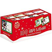Christmas Collection Tallon - Pack de 120 etiquetas adhesivas, diseño de Navidad