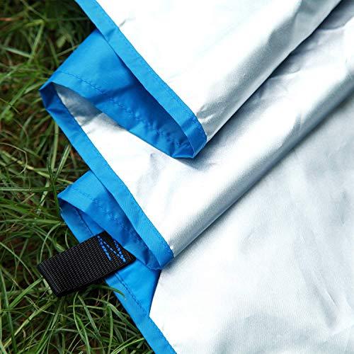 Patio-stuhl-riemen (Hängematte Im Freien wasserdichte Super Große Überdachung Mehrpersonenfamilien-Strand-Markise 3m X 3 M Garten-Patio-Partei-Lichtschutz Mit Azurblauer Farbe (Color : Black))