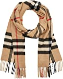 BURBERRY Damen Schal Classic Scarf, Mehrfarbig (Camel Check), One Size