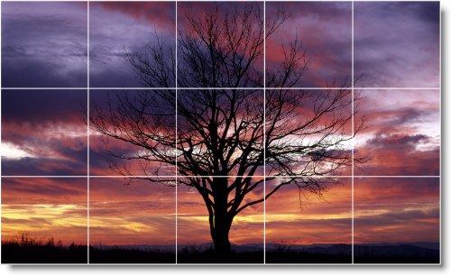 SUNSET FOTO BAñO AZULEJO MURAL S026  24X 40CM CON (15) 8X 8AZULEJOS DE CERAMICA