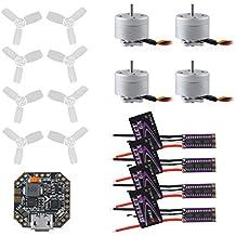 DroneAcc EMAX 6A Bullet BLHeli_S ESC + RS1104 5250KV Motor + F3 Femto Vuelo Controlador + T2345BN Propulsor Sistema de alimentación Kit para FPV Racing Quadcopter