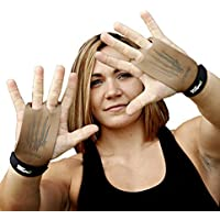 #1 Crossfit Grip Bear KompleX 2 hole Gymnastics grips are great for WODs, pullups, weight lifting, chin ups, exercise, kettlebells, and more. Protect your palms from rips and tears! LRG 2hole TAN