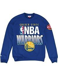 "Golden State Warriors Mitchell & Ness NBA ""Toss Up"" Men's Crew SweatShirt Chemise"