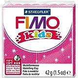 Staedtler - Fimo kids - Pain Pâte à Modeler 42 g Rose Pailleté