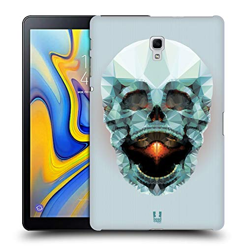 Head Case Designs Platin Schädel Anatomie Polygon Harte Rueckseiten Huelle kompatibel mit Samsung Galaxy Tab A 10.5 (2018) - Platin 10.5