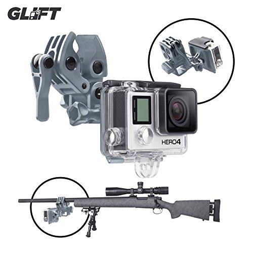 Sportsman Mount Clip para pistola/caña de pescar/Bow Fijación GoPro Hero 3y 4Cámaras de Acción (gris)