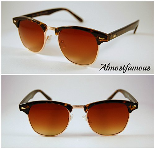 Pretty Smart Glasses Braun lennew Wayfarer Damen Classic Herren & Spiegel Sonnenbrille Vintage Retro Aviator UV401
