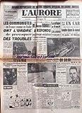 aurore l no 1658 du 11 01 1950 reportage en chine par gilbert les communistes en france comme en italie ont l ordre de provoquer des troubles g bidault la grippe a tue 50 000 francais affaire da silva graig est il fou