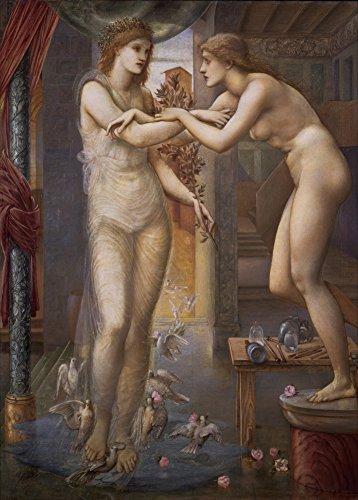 Edward burne-jones Pygmalion (begriffsklärung) und das Bild–Der Gott Feuer C1878250gsm, Hochglanz, A3, vervielfältigtes Poster