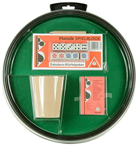 Pokergarnitur-mit-Wrfeltasse Pokergarnitur mit Würfeltasse -