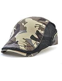 Roffatide Camuflaje Algodón Malla Costura Ajustable Plano Gorra Sombrero de  Boina Golf Chapelas 435ee9c2c95